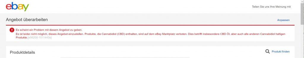 eBay CBD Verbot